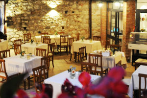 Sicilian furniture in our italian restaurant